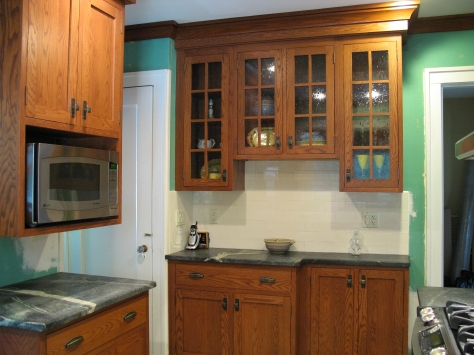 how to make oak kitchen cabinets look new